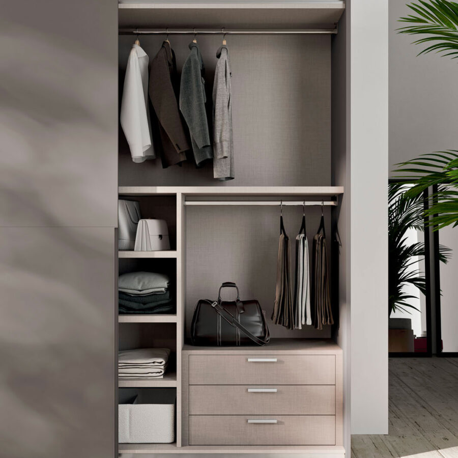 Sliding door wardrobe with Filo 1200 door Orme